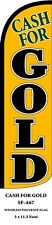 Cash For Gold Yellow Feather Flags Banner Sign Same Day Ship