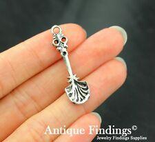 12pcs Antique Silver Charm Tibetan Silver Spoon Pendant SC100