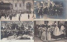 Spain Royalty King Alphonse Xiii visit 1905 Paris 180 Vintage Postcards in Box