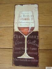Nº h0055 Chardonnay-Escudo de chapa escudo-nostalgia-vino-Glas - France