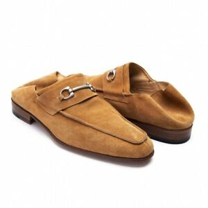 DI MELLA Gancini Suede Loafer Size US About 8(K-69071)