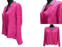 Marks and Spencer St Michael Pink Fuchsia Occasion Work Blouse Top Size 14 UK