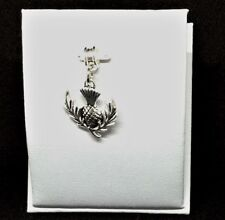 Scottish, THISTLE FLOWER Charm, Bead fits European Charm Bracelets - G197