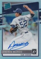 2020 OPTIC PRIZMS HOLO AUTOGRAPHS RC ANDRES MUNOZ PADRES RATED ROOKIE - B5195