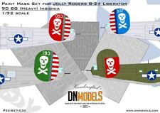 Jolly Rogers B-24 Liberator 90BG (Heavy) Insignia Paint Mask Set 1/32