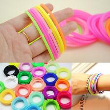 10Pcs Night Luminous Bangles Rubber Bracelet Kids Favour Ring Wristband Gifts