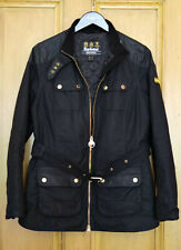 £249 Ladies Barbour International Hubcap black wax jacket size UK 12 US 8 EU 38