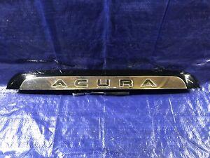 2001-2006 Acura MDX Rear License Plate Trim Molding Hatch Decklid Chrome Black
