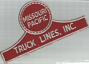 Missouri Pacific Truck Lines jacket size truck driver patch 6 X 11-3/4