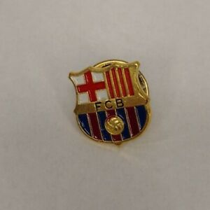 FC Barcelona Pin Barça FCB NEW Metal Button Pin FC Official Collectible 90s PIN!