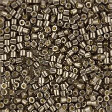 Miyuki Delica Seed Beads 3mm Size 8/0 Duracoat Galvanized Pewter 6.8g (J97/11)