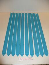 BERWICK MAGIC PULL BOWS GROSGRAIN TURQUOISE BUTTERFLY 4 INCH LOT OF 10 FREE SHIP