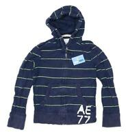American Eagle Mens Size S Cotton Striped Multi-Coloured Zipped Hoodie