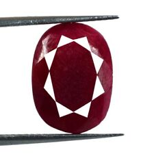 Natürlicher 10 Karat + Oval Afrikanische Taube Blutroter Rubin Lose Edelstein