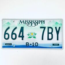 United States Mississippi B-10 Truck License Plate 664 7BY