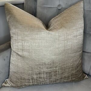 """Luxury Cushion Cover 16"""" x 16"""" , Gold Bronze Fabric Handmade Double Sided"""