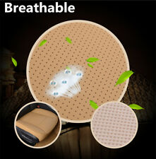 Beige Car Leather Soft Chiar Cover Wear-resistant Seat Cushion Bamboo Charcoal