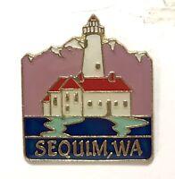 Tourist Travel Sequim, Washington Souvenir Collector Pin - Dungeness Lighthouse