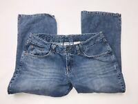 Lucky Brand Dungarees Women's Classic Fit Crop Denim Capris Blue Jeans Sz 12/31