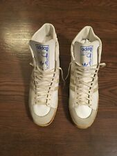 "Vtg. Adidas ""Rare� 1970s Kareem Abdul-Jabbar hi-top leather Sneakers Made France"