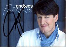 Andreas Fulterer Musik Sänger original signierte Autogrammkarte AK NEU 2315 UH