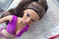 Black Label Barbie Basics Model No. 14  Collection 003 Purple Swim Suit Doll