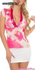 Ladies Top Women's T-shirt Casual Blouse Batik Shirt Size 8 10 12 14 UK Pink S UK 8 EU 36