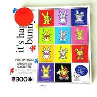 "It's Happy Bunny by Jim Benton 300 Piece Jigsaw Poster Puzzle 19x28"""