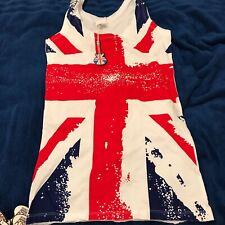BNWT FQ London Union Jack Vest Top Sz S/M