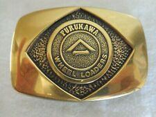 Furukawa Wheel Loaders Heavy Equipment Brass Belt Buckle (#3275)