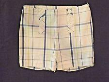 HARTSTRINGS Girls Light Plaid High Waisted Nautical Shorts Size 7