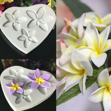 Flower Silicone Fondant Mould Plumeria Clay Candy Cake Chocolate Baking DIY Mold