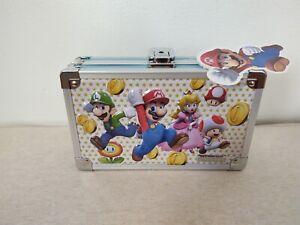 "Nintendo Super Mario Locking Supply Box 8.25"" x 5.5"" Toad Luigi Princess Peach"