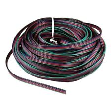(1,49€/m) 10m RGB Led Kabel / Litze, 4-adrig Anschlusskabel für RGB Strips & Co