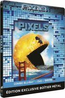 PIXELS-ADAM SANDLER-BLU RAY STEELBOOK NEUF SOUS BLISTER