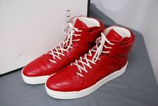 worn once GUCCI red high top men's sneakers shoes 386738 sz 10 1/2 / US 11 1/2