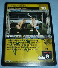 Hardcore Bob Holly Signed 2005 Comic Images Raw Deal WWE Card Autograph Playing