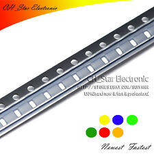7colors 140pcs 0603 SMD LED Diodes White Red Yellow Green Blue Orange Mix Kits