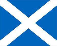 "10"" x 8"" SCOTLAND SCOTTISH SALTIRE FLAG GLASGOW EDINBURGH METAL PLAQUE SIGN N073"