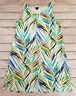 J JILL WEAREVER COLLECTION LARGE LG PALM PRINT SLEEVELESS TANK STRETCH DRESS