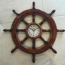 HANDCRAFTED NATURAL WOODEN WHEEL CLOCK - NEW, NEVER USED