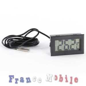 Thermomètre Digital Avec Sonde Inox pour Aquarium Terrarium Réfrigérateur Voitur
