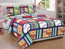 Fancy Collection Blue Red Green Sport Kids/teens 3 Pc Sheet Set Pillow Shams.
