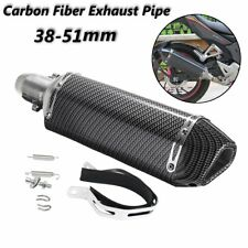 38-51mm Motorcycle Carbon Fiber Stainless Steel Exhaust Muffler Pipe ATV Scooter