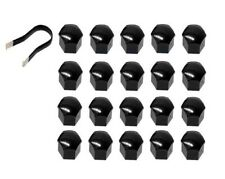 Wheel Lug Bolt Cap Set (20 Pack) (Black) Genuine For Saab 12771404