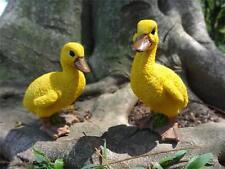 Pair of Small Resin Ducks Outdoor Yard Garden Pond Decoration Figurine