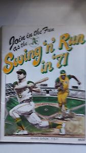 Swing 'n' Run in '71 Oakland A's