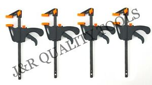 "4pc Quick Grip 4"" F woodworking Clamp Clip Heavy Duty Wood Carpenter Tool Clamp"