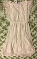 Nordstrom Lush Dress Ivory Chiffon  XS Cap Sleeve Flowy Sheer