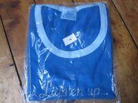 Everards Brewery Sun Chaser Lighten Up Women's Blue Cotton T Shirt NEW Size 14